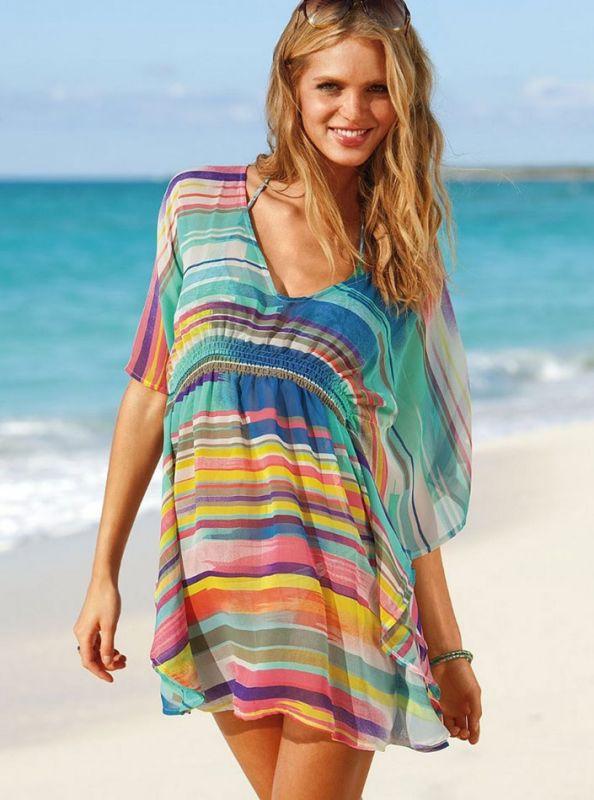 Из какого материала лучше сшить пляжную тунику 21